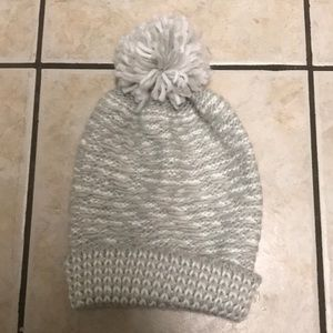 Accessories - Grey and white knit Pom Pom hat.